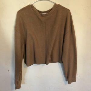 Zara - tan cropped sweater
